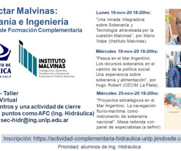 Seminario taller «Proyectar Malvinas: Soberanía e Ingeniería»